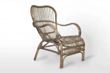 Кресло из ротанга CANNES серое