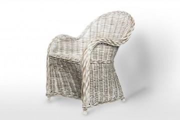 Кресло из ротанга VERSAILLES белое потертое