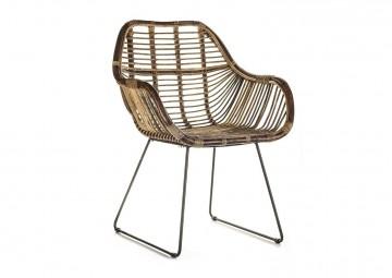Ретро-кресло из ротанга LAVAL
