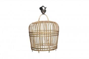 Лампа из бамбука TOULOUSE ⌀41см x выс. 47см серая