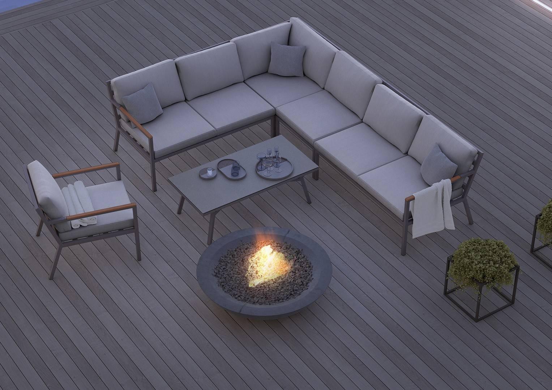 Мебель для улицы LUGO - STONE&WOOD