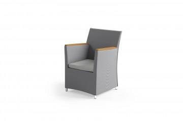 Садовое кресло MERIDA teak - STONE&WOOD серое