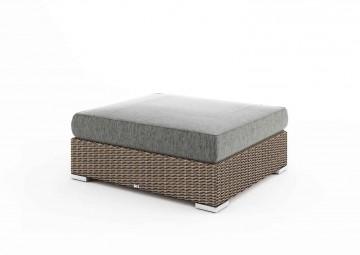 Столик / пуф MILANO (со стеклом и подушкой) песок