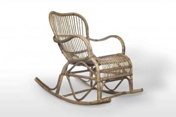 Кресло-качалка из ротанга MARSEILLE серое