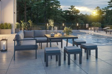 Комплект садовой мебели GRADO II серый