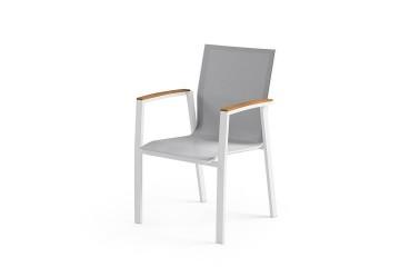 Садовое кресло LEON teak белое