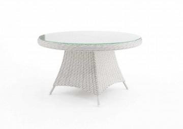 Садовый стол RONDO 130 см белый