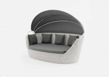 Садовый диван-кровать PORTOFINO белый
