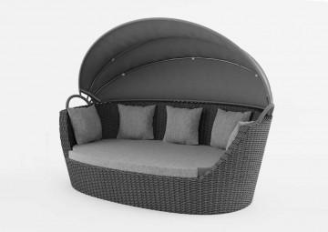 Садовый диван-кровать PORTOFINO серый