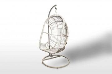 Подвесное кресло из ротанга NICE белое потертое